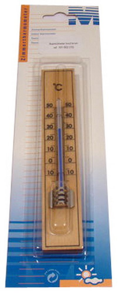 Houten Thermometer Bruin Mt 101002