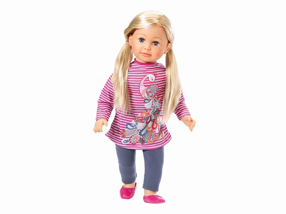 Afbeelding van Deze peuterpop (63 cm) is echt jouw vriendinnetje! Je kunt haar aankleden zoals jij dat wilt in kledingmaatje 62. Ze heeft heel zacht haar, kun jij een mooie vlecht bij haar maken?