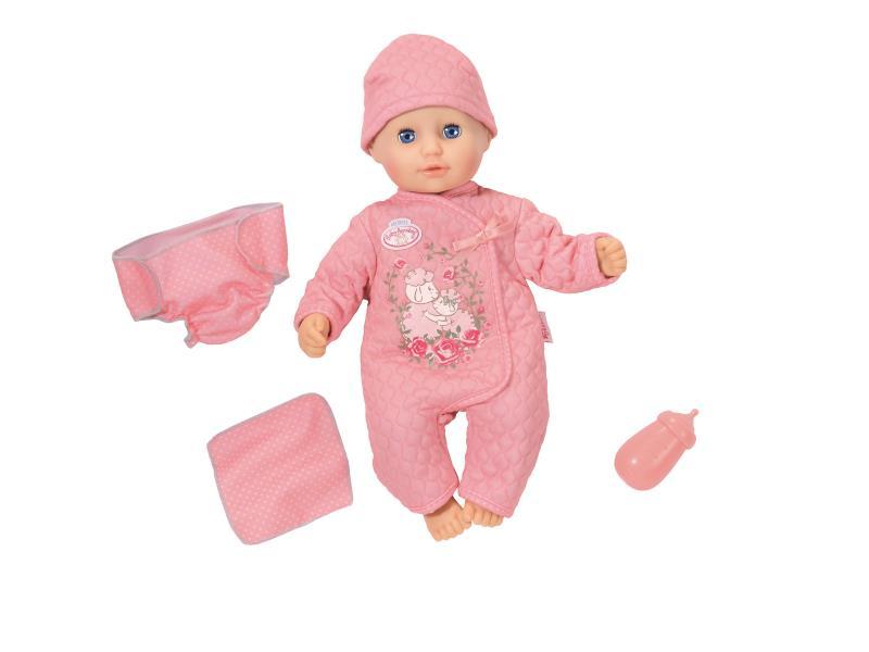 Afbeelding van Baby Annabell Little Babyplezier is een lieve baby die veel plezier heeft tijdens het spelen. Als je haar kust op haar voorhoofdje, doet ze je na met schattige kusgeluidjes of roept ze om haar mama. Het liefst wil ze gekieteld worden op haar buikje - zo k