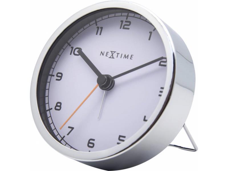 Nextime Alarm Clock - 9 X 9 X 7.5 Cm - Metal - White - 'Company Alarm'
