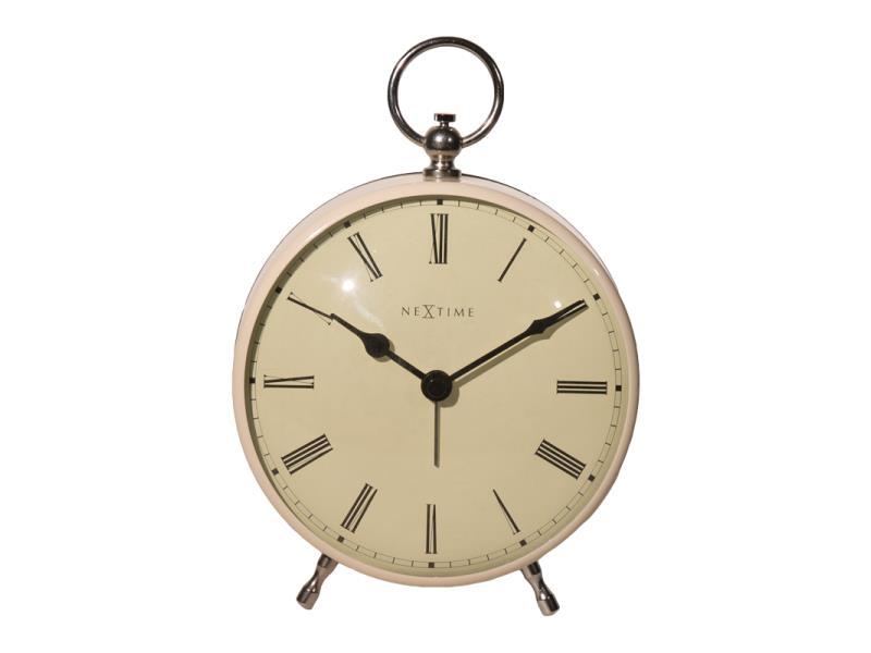 Nextime Alarm Clock - 17.5 X 12.5 X 6.5 Cm - Metal - Cream - 'Charles'