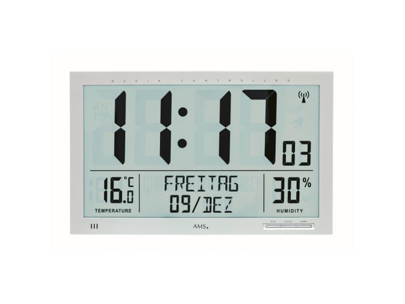 Ams 5888 Wandklok Zendergestuurd, Hygrometer En Thermometer
