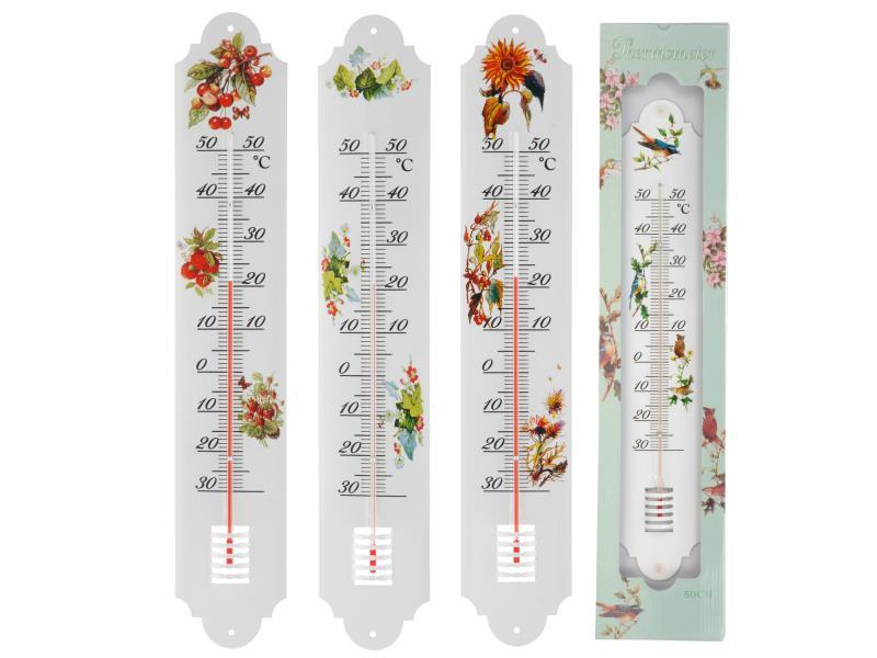 Thermometer Metaal, 13X2X63Cm, 380Gr, 4 Assortiment Prijs Per Stuk Dess