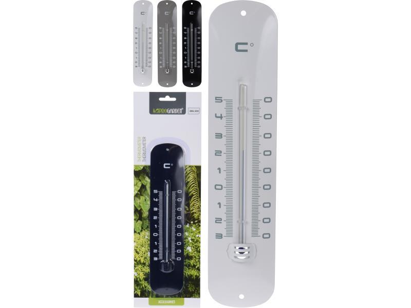 Thermometer Metaal 30Cm 3 Assortiment Prijs Per Stuk/Kleur