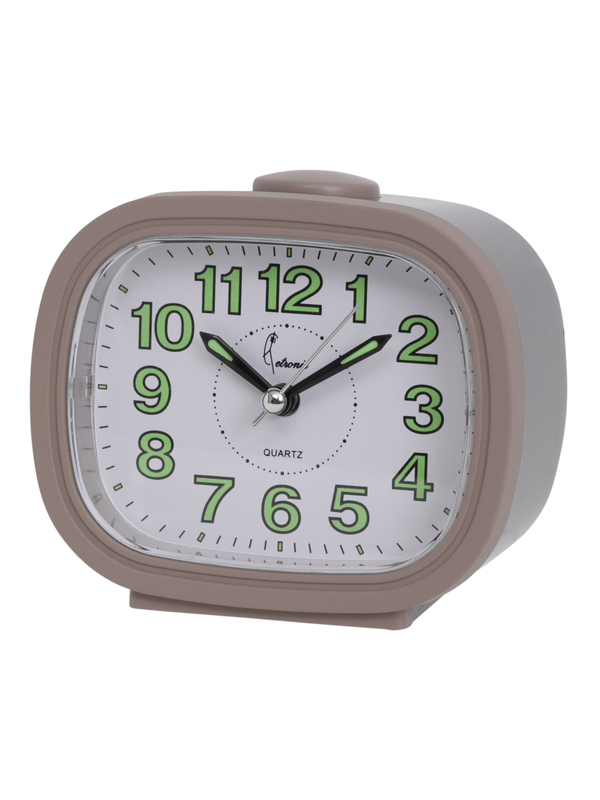 Quartz Alarm Bell Clock Snooze-Light-Silent Second