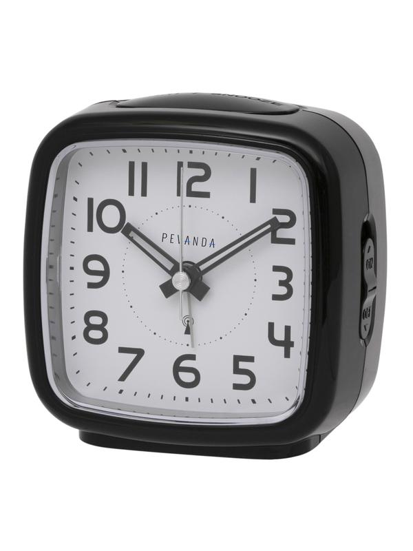 Radio Controlled Analog Clock Nooze Crescendo Black