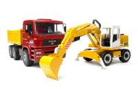 Bruder 02751 MAN TGA truck met Liebherr graafmachine
