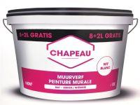 Chapeau Muurverf 8+2L Wit Binnen