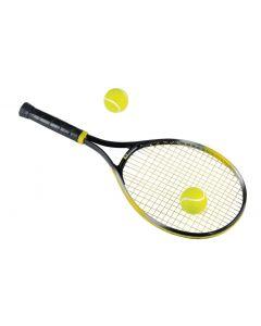 Tennisracket met 2 ballen
