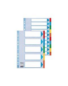 Index Karton Tabbl A4 10Tabs Ass