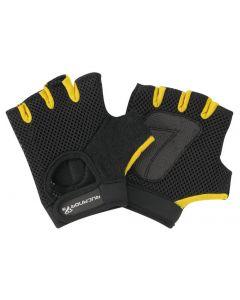 SP Fitness/Fiets- Handschoen Zwart/Geel L