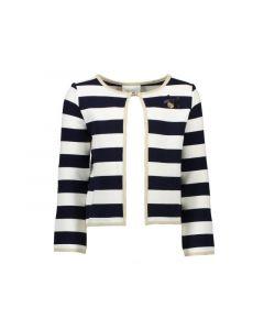 Le Chic Z19 Meisjes Cardigan Relief Stripe Blue Navy 92