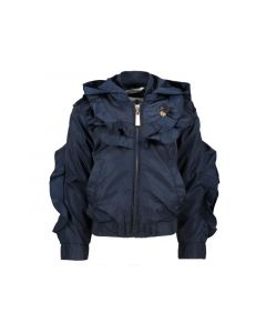 Le Chic Z19 Meisjes Bomber With Ruffles Blue Navy 92