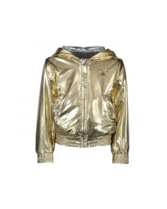 Le Chic Z19 Meisjes Eversible Bomber Tinfoil Look Gold 92