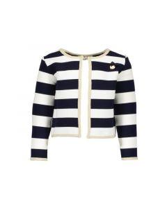 Le Chic Z19 Meisjes Cardigan Relief Stripe Blue Navy 62