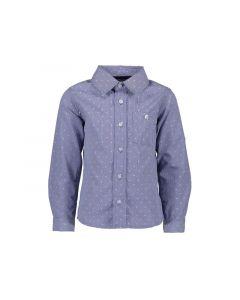 Lcee Z19 Jongens Shirt Smallcheck With Dots Blue Navy 92