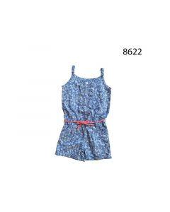 Knot So Bad Z19 Meisje Jumpsuit Kort Blue