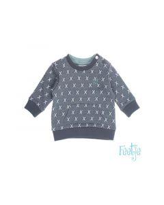 Feetje Z19 Sweater Aop Smile Antraciet