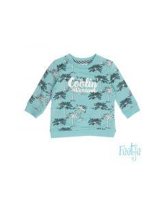 Feetje Z19 Sweater Aop Palmtrees Mint