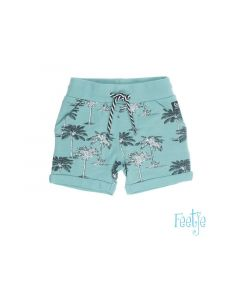 Feetje Z19 Short Aop Palmtrees Mint