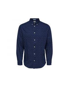 Selected 1812 Slhslimnolan Pre Shirt Ls Mix W Light Blue Aop S