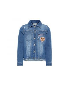 Name It Mini 1901 Nmfbadea Dnm 2172 Swe Jacket Medium Blue Denim 80