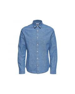 Only & Sons Noos Onsted Ls Slub Chambray Shirt Medium Blue Denim S