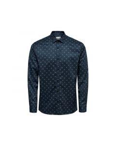 Only & Sons 1901 Onsalves Ls  Bird Aop 2-Ply Shirt D Dress Blues