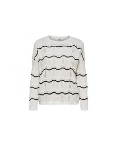 Only 1902 Onlcactus Ls Stripe Pullover Knt