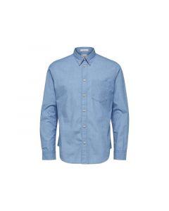 Selected 1902 Slhreglandon-Perfect Shirt Ls W Light Blue L