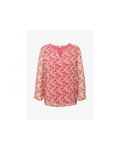 Tom Tailor Dames 1903 T-Shirt Chiffon Blouse Style Pink Floral Design Xxxl
