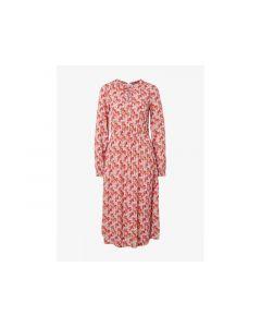 Tom Tailor Dames 1903 Flower Midi Dress Pink Floral Design 40