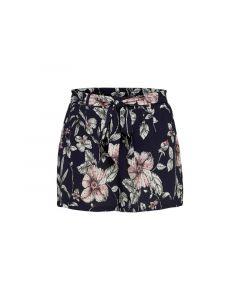 Only 1903 Onlnova Lux Shorts Aop W. Belt 4 Wv Black Tropical Flower 34