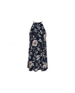 Only 1903 Onlnova Lux Aop Limbo Dress Wvn Black Tropical Flower 34