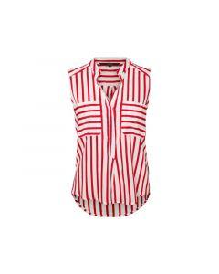 Vero Moda Noos Vmerika S/L Stripe Shirt Color Snow White Foxglove