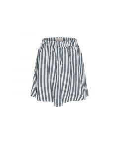 Only Kids 1904 Konida Striped Skirt White Denim Grey