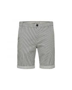 Selected 1904 Slhstraight-Paris Mix Shorts W Egret Stripes