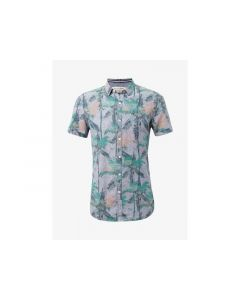 Tom Tailor Heren 1905 Printed Cotton Linen Shirt