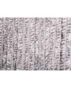 Deurgordijn Fluweel 90X200 Cm Grijs-Bruin-Wit 46