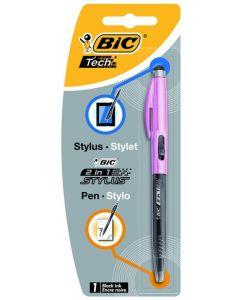 Bic 2 In 1 Stylus Metal Zwart