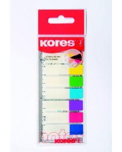 Kores Film Filing Strips Op Meetlat 8 Kleuren 15St/Kleur