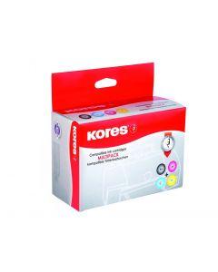 Kores Compatibel Inkjet Bonus Pack For Canon Pgi-520Bk+Cli521 Bk/C/M/Y