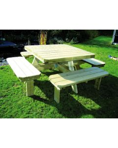 Barbecue Tafel Deluxe Vierkant 1400 X 1400 Mm