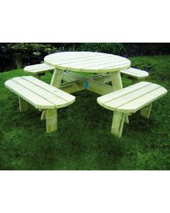 Barbecue Tafel Deluxe Rond 1400 Mm