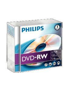 Philips Dvd-Rw 4.7Gb 4X Jc 5St