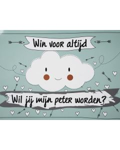 Scratchcard - Wil Jij Mijn Peter Worden - Funny Cloud