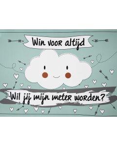 Scratchcard - Wil Jij Mijn Meter Worden? - Funny Cloud