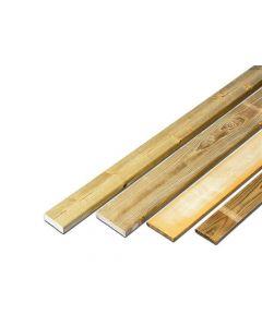 Geschaafde Plank Ronde Hoek 15X120X3600