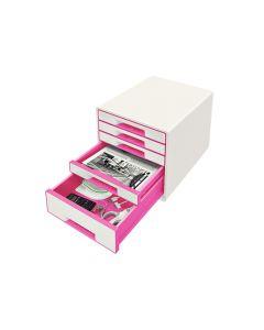 Wow Desk Cube 5 Laden Wit/Roze