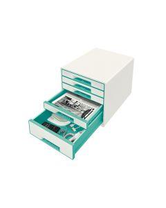 Wow Desk Cube 5 Laden Wit/Ijsblauw